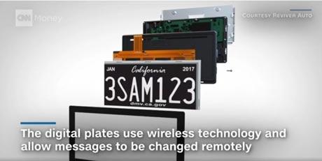 صدور مجوز استفاده از پلاک های دیجیتال خودرو در کالیفرنیا