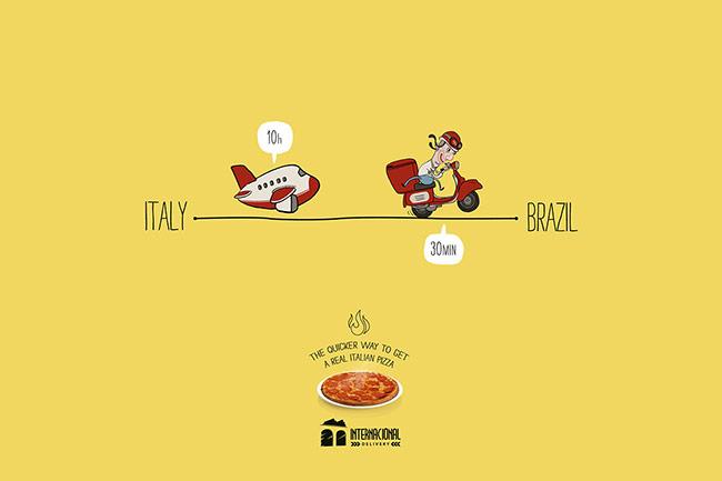 تبلیغ پیتزا در برزیل