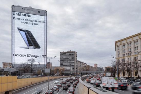 سامسونگ و بزرگترین بیلبورد تبلیغاتی جهان
